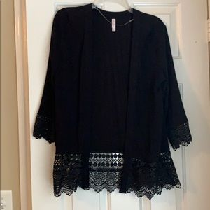 Lightweight cover up with cute lace detailing